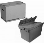Karton oder Kunststoff-Box für Einlagerung mieten